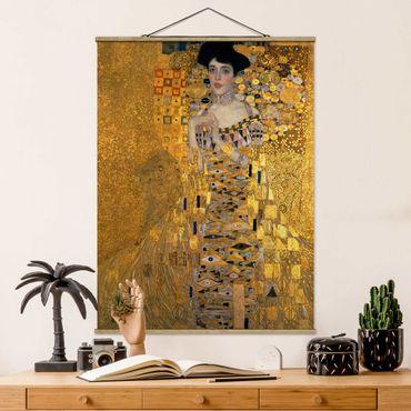 Stoffbild mit Posterleisten - Gustav Klimt - Adele Bloch-Bauer I - Hochformat 4:3