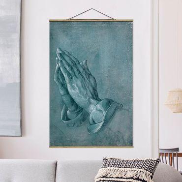 Stoffbild mit Posterleisten - Albrecht Dürer - Studie zu Betende Hände - Hochformat 3:2