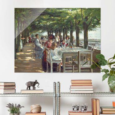Glasbild - Max Liebermann - Terrasse des Restaurants Jacob - Querformat 3:4