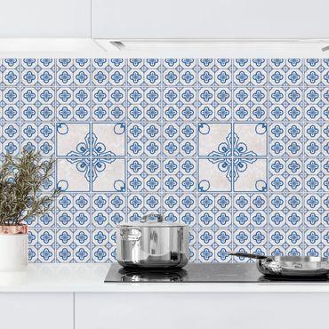 Küchenrückwand - Fliesenmuster Porto blau