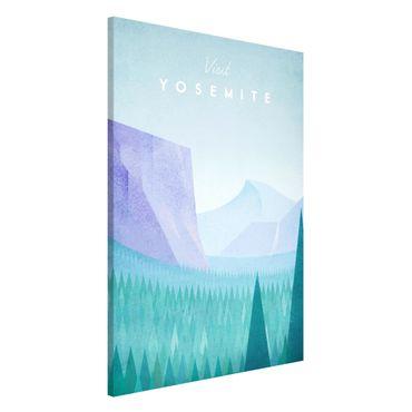 Magnettafel - Reiseposter - Yosemite Park - Memoboard Hochformat 3:2