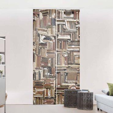 Schiebegardinen Set - Shabby Bücherwand - Flächenvorhänge