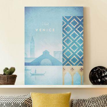 Leinwandbild - Reiseposter - Venedig - Hochformat 4:3