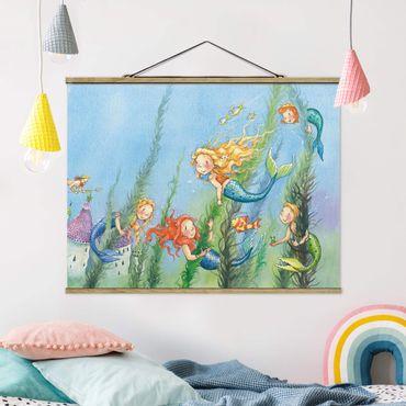 Stoffbild mit Posterleisten - Matilda die Meerjungfrauenprinzessin - Querformat 3:4