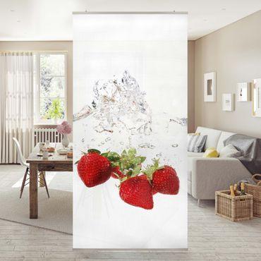 Raumteiler - Strawberry Water 250x120cm