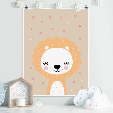 Poster - Der liebe Löwe - Hochformat 3:4