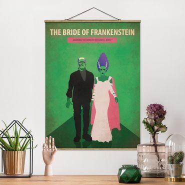 Stoffbild mit Posterleisten - Filmposter The Bride of Frankenstein - Hochformat 4:3