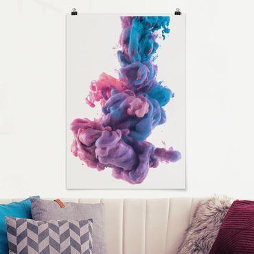 Poster - Abstrakte flüssige Farbe - Hochformat 3:2