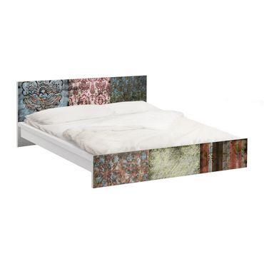 Möbelfolie für IKEA Malm Bett niedrig 180x200cm - Klebefolie Old Patterns