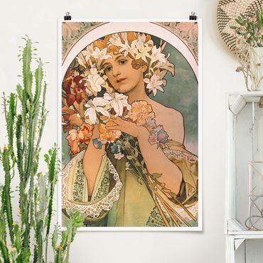 Poster - Alfons Mucha - Blume - Hochformat 3:2