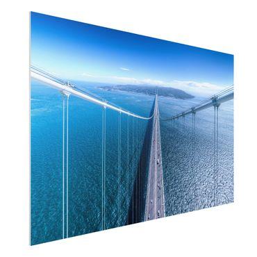 Forex Fine Art Print - Brücke zur Insel - Querformat 2:3
