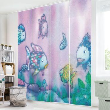 Schiebegardinen Set - Der Regenbogenfisch - Unterwasserparadies - Flächenvorhänge