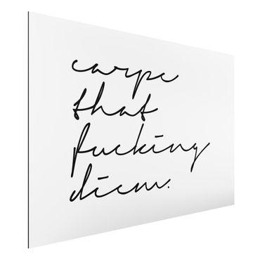 Aluminium Print - Carpe Diem Kalligrafie - Querformat 2:3