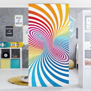 Raumteiler Kinderzimmer - Farbtornado 250x120cm