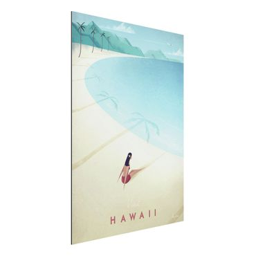 Aluminium Print - Reiseposter - Hawaii - Hochformat 4:3