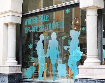 Fensterfolie - Fenstersticker No.JO58 Wunschtext Winterwetter - Fensterbilder