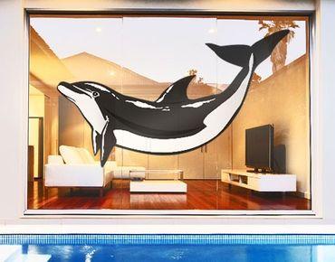 Fensterfolie - Fenstersticker No.TA49 Dolphin - Fensterbilder