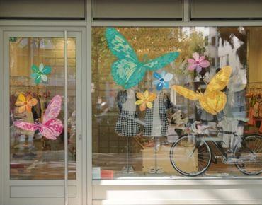 Fensterfolie - Fenstersticker - No.UL43 Frühlingsgruß - Fensterbilder Frühling