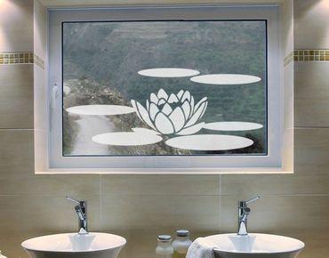 Fensterfolie - Fenstertattoo No.UL68 Seerose - Milchglasfolie