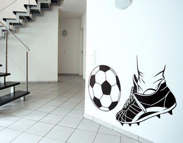 Wandtattoo Fußball - No.EG7 Kick 2