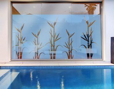 Fensterfolie - Sichtschutzfolie No.8 Bambus I - Milchglasfolie