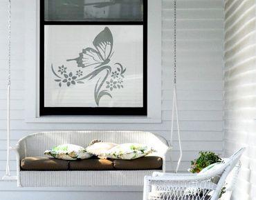 Fensterfolie - Sichtschutzfolie No.9 Schmetterling II - Milchglasfolie