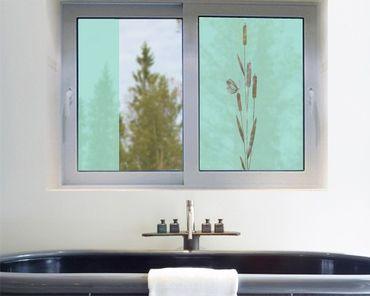 Fensterfolie - Sichtschutzfolie No.30 Schilf II - Milchglasfolie