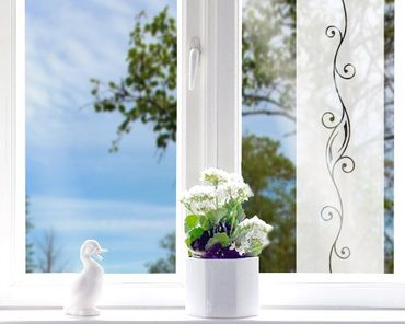 Fensterfolie - Sichtschutzfolie No.37 Ornament III - Milchglasfolie