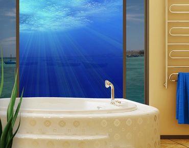 Fensterfolie - Sichtschutz Fenster Arctic Sun - Fensterbilder
