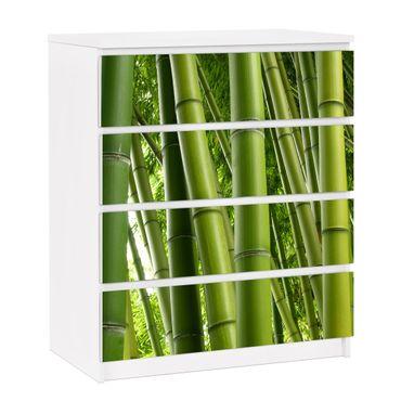 Möbelfolie für IKEA Malm Kommode - selbstklebende Folie Bamboo Trees No.1