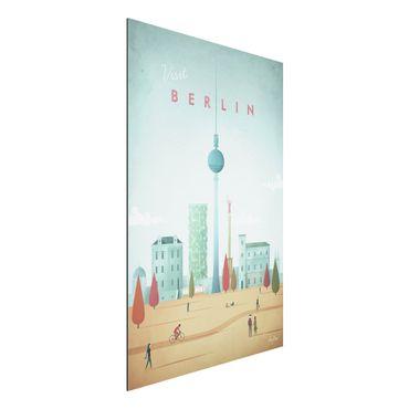 Aluminium Print - Reiseposter - Berlin - Hochformat 3:2