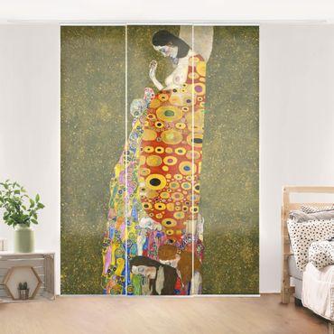 Schiebegardinen Set - Gustav Klimt - Die Hoffnung II - Flächenvorhänge