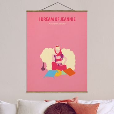 Stoffbild mit Posterleisten - Filmposter I dream of Jeannie - Hochformat 4:3
