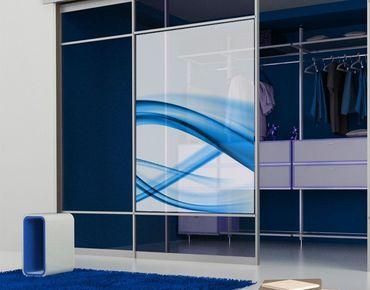 Fensterfolie - Sichtschutz Fenster Blue Element No.2 - Fensterbilder