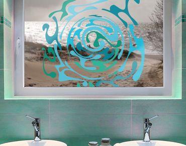 Fensterfolie - Fenstersticker No.IS50 WasserWirbel - Fensterbilder
