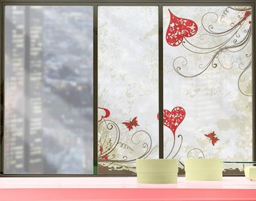 Fensterfolie - Sichtschutz Fenster Heart Background - Fensterbilder