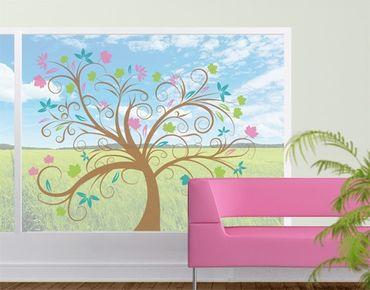 Fensterfolie - Fenstersticker No.57 Zauber Baum - Fensterbilder