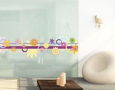 Fensterfolie - Fenstersticker No.FB18 Farbenfrohe Zierde - Fensterbilder
