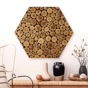 Hexagon Bild Holz - Homey Firewood