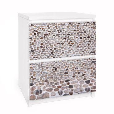 Möbelfolie für IKEA Malm Kommode - Selbstklebefolie Andalusische Steinmauer