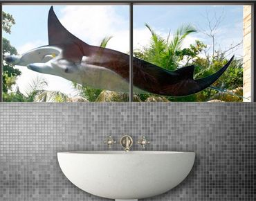 Fensterfolie - Fenstersticker No.453 Rochen - Fensterbilder