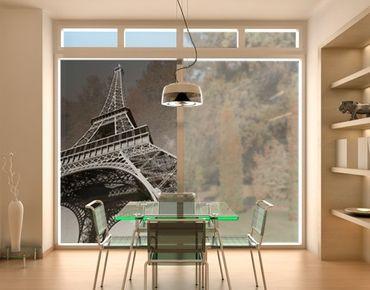 Fensterfolie - Sichtschutz Fenster Eiffelturm - Fensterbilder