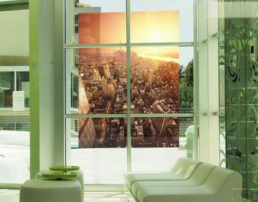 Fensterfolie - Sichtschutz Fenster Goldene Stadt - Fensterbilder
