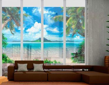 Fensterfolie - Sichtschutz Fenster Traumurlaub - Fensterbilder