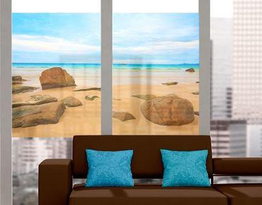 Fensterfolie - Sichtschutz Fenster The Beach - Fensterbilder