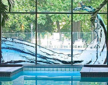 Fensterfolie - Fenstersticker No.465 Wave's Splash - Fensterbilder