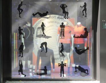 Fensterfolie - Fenstersticker No.469 Fitness Set - Fensterbilder