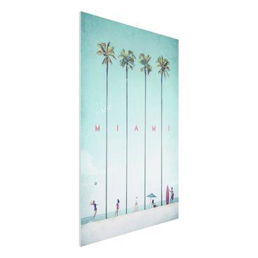 Forex Fine Art Print - Reiseposter - Miami - Hochformat 3:2