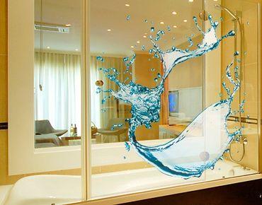 Fensterfolie - Fenstersticker No.471 Splashing Water - Fensterbilder