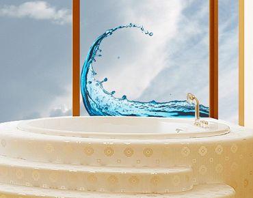 Fensterfolie - Fenstersticker No.476 Splashing Wave - Fensterbilder